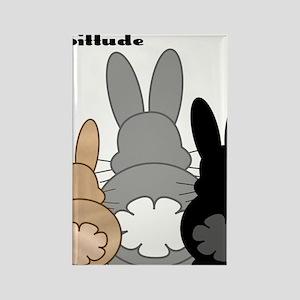 Rabbittude Posse Rectangle Magnet
