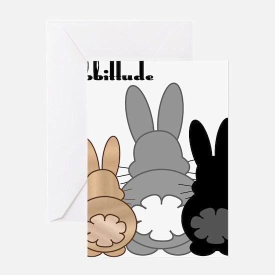 Rabbittude Posse Greeting Card