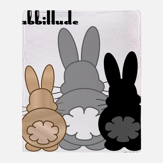 Rabbittude Posse Throw Blanket
