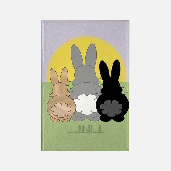 Rabbittude Posse Journal Rectangle Magnet