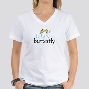 future butterfly Women's V-Neck T-Shirt