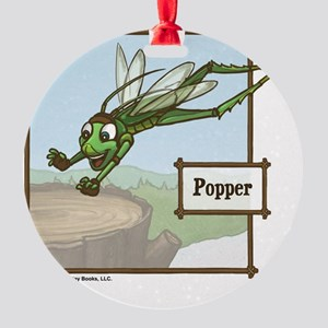 Meet Popper! Round Ornament