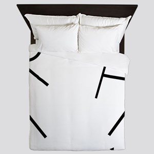 Stick Figure Humor Queen Duvet