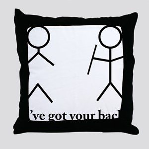 Stick Figure Humor Throw Pillow