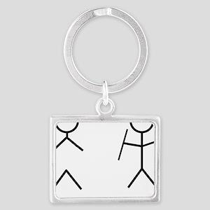 Stick Figure Humor Landscape Keychain