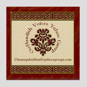 Outlandish Voices Tile Coaster