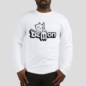 Demon Black  White Long Sleeve T-Shirt