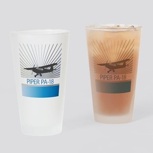 Aircraft Piper PA-18 Drinking Glass