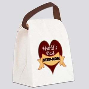 Worlds Best Step-Mom Canvas Lunch Bag