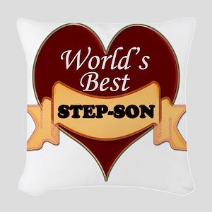 Worlds Best Step-Son Woven Throw Pillow