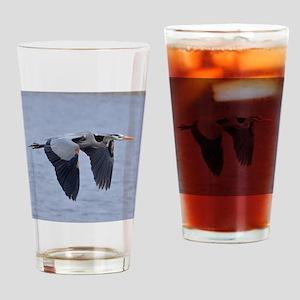Heron Flying Drinking Glass