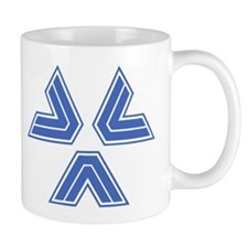 Almost Human Police Triangles Blue Mugs