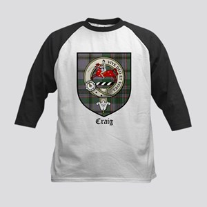 Craig Clan Crest Tartan Kids Baseball Jersey
