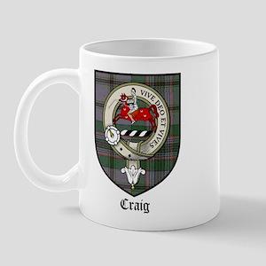 Craig Clan Crest Tartan Mug