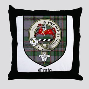 Craig Clan Crest Tartan Throw Pillow