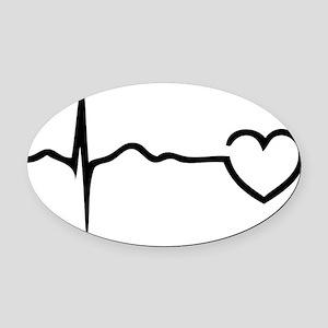 heartB1A Oval Car Magnet