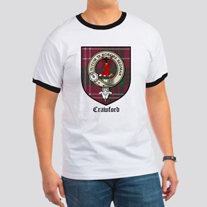 Crawford Clan Crest Tartan Ringer T