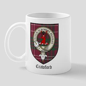 Crawford Clan Crest Tartan Mug