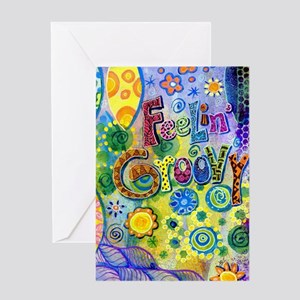 Feelin Groovy Square Greeting Card