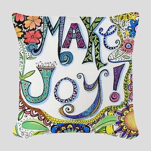 Make Joy Woven Throw Pillow