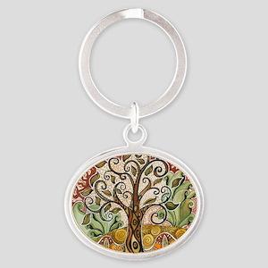 Tree of Life Oval Keychain