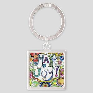 Make Joy Square Keychain