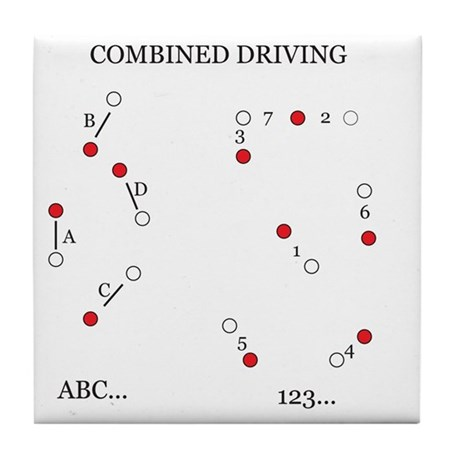 Combined Driving for Kids Tile Coaster