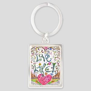Love Life Portrait Keychain