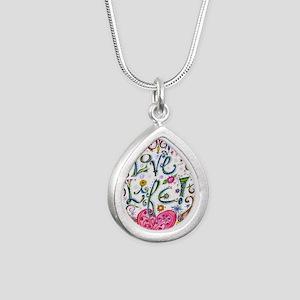Love Life Silver Teardrop Necklace