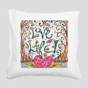 Love Life Square Canvas Pillow