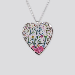 Love Life Necklace Heart Charm