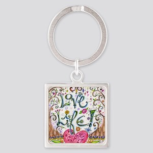Love Life Square Keychain