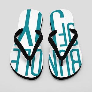 Bundle of Joy in Blue Flip Flops