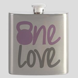Purple One Love Kettlebell Flask