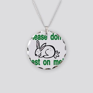 stop animal testing bunny Necklace Circle Charm