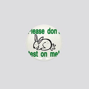 stop animal testing bunny Mini Button