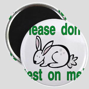 stop animal testing bunny Magnet