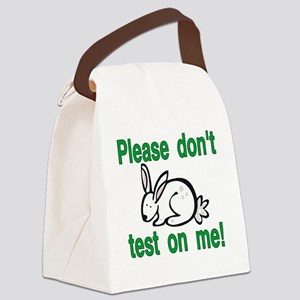 stop animal testing bunny Canvas Lunch Bag