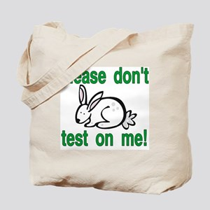 stop animal testing bunny Tote Bag