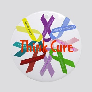 Think Cure Round Ornament