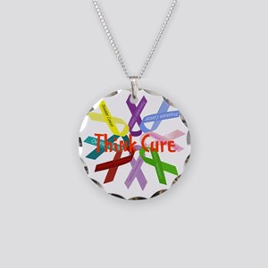 Think Cure Necklace Circle Charm