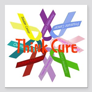 """Think Cure Square Car Magnet 3"""" x 3"""""""
