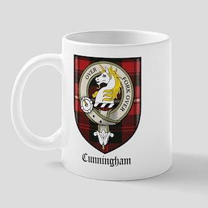 Cunningham Clan Crest Tartan Mug
