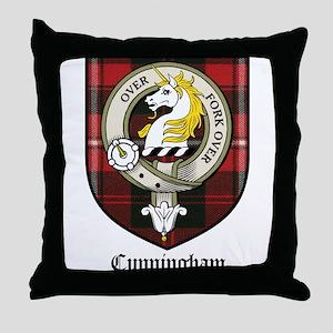 Cunningham Clan Crest Tartan Throw Pillow