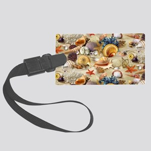 Fancy Seashell Picture Frame Large Luggage Tag