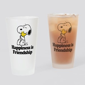 Happiness is Friendship Drinking Glass