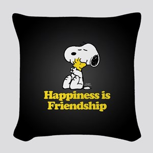 Happiness is Friendship Woven Throw Pillow
