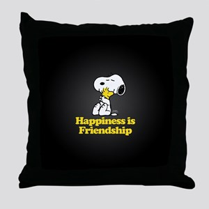 Happiness is Friendship Throw Pillow