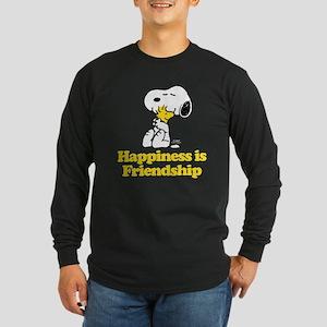 Happiness is Friendship Long Sleeve Dark T-Shirt