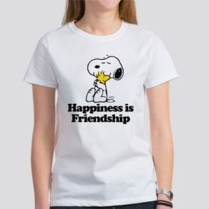 Happiness is Friends Women's Classic White T-Shirt